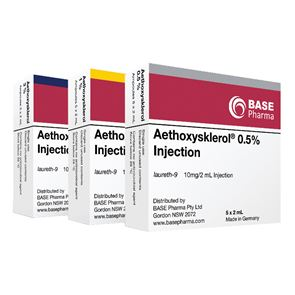 Aethoxysklerol 5mg/ml 0.5% 5x2ml solution for injections
