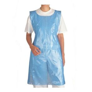 Disposable Apron Flat Pack Blue (27