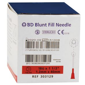BD 18Gx40mm Needle Box of 100