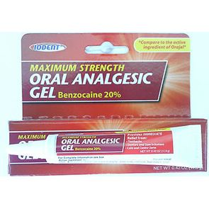 Oral Benzocaine 20% (for gum anaesthesia)
