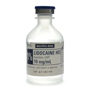 Lidocaine 1% Ampoules 10ml (Single)