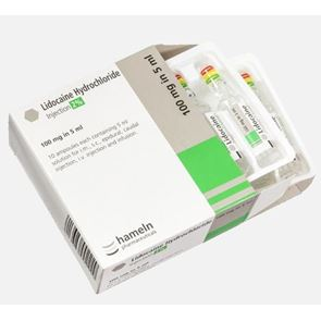 Lidocaine 2% Ampoules 5ml (10 per Box)