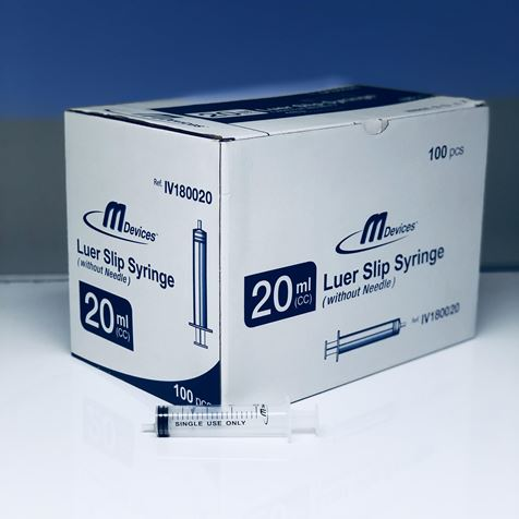 Luer Slip Syringe 20ml (Box)