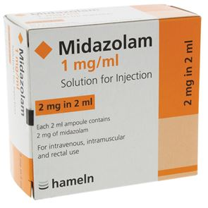 Midazolam 1mg/ml 5ml Ampoules (10 per box) 1 box