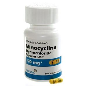 Minocycline 50mg Box of 28 tablets