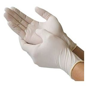 Nitrile Powder Free White Gloves Medium Box