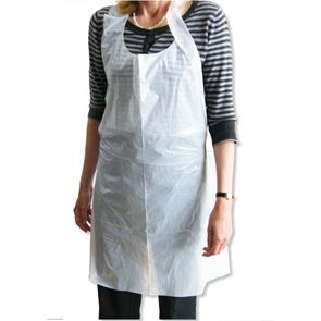 "Disposable Apron Flat Pack White (27"" x 46"")"